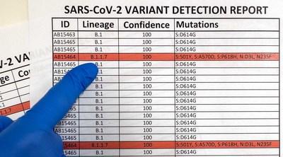 Zymo Research apresenta seu serviço de sequenciamento de variantes da covid-19 que auxilia no rastreamento do surgimento e da prevalência de novas variantes de SARS-CoV-2. (PRNewsfoto/Zymo Research Corp.)