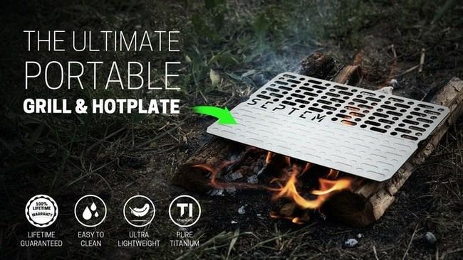 Pure Titanium Camp Grill