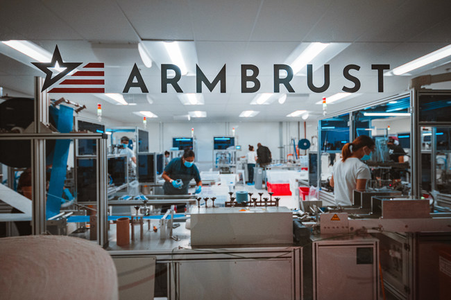 Armbrust American's Texas-based medical mask production facility. Photo by Alex Smith.