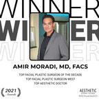 Amir Moradi, MD Wins 'Top Facial Plastic Surgeon of the Decade' in the 2021 Aesthetic Everything® Aesthetic and Cosmetic Medicine Awards