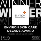 "Environ® Skin Care Receives ""Top Medical Skin Care of the Decade"" and DermaConcepts receives ""Top Medical Skin Care Distributor of the Decade"" in the Aesthetic Everything® Aesthetic and Cosmetic Medicine Awards 2021"