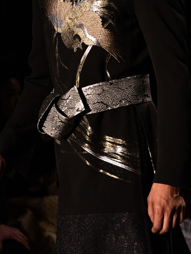 HIROMI ASAI AW21 New York Fashion Week Show with Flying Solo, All made of Kimono Textiles