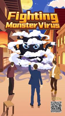 "Juego móvil ""Fighting Monster Virus"" (PRNewsfoto/CGTN)"