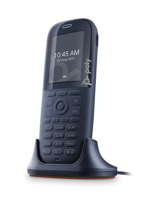 Poly Rove DECT IP phone is the first and only phone to exclusively feature built-in Microban antimicrobial protection.