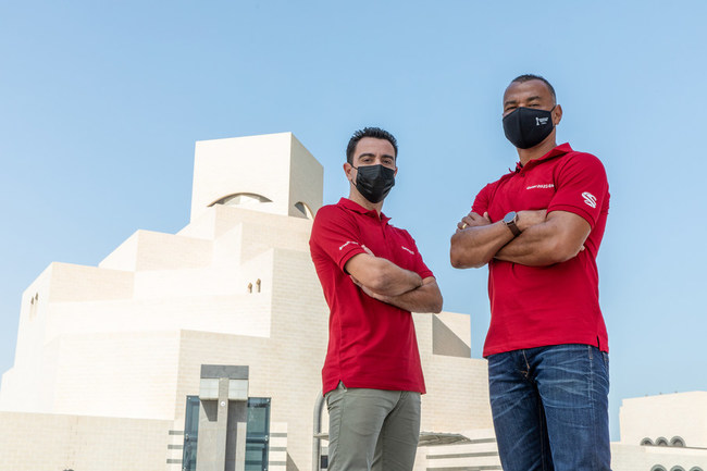 Football greats Cafu and Xavi soaked up the sights of Qatar during FIFA Club World Cup Qatar 2020™