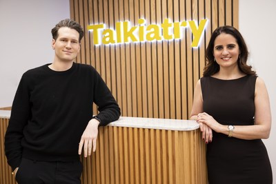 Talkiatry's CEO Robert Krayn and Chief Psychiatrist Dr. Georgia Gaveras launched the mental health platform in April 2020.