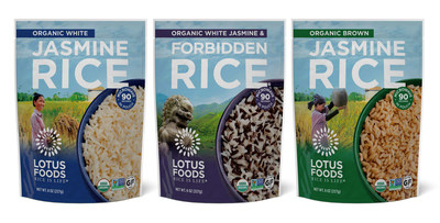 Lotus Foods, the leading heirloom and organic rice company, has announced the addition of new Heat & Eat Rice Pouches to its premier line of products. Its most popular rice varieties, sourced from certified organic family farms, are now pre-cooked in convenient Heat & Eat Rice Pouches, with the rice ready to eat in as little as 90 seconds. Made with no added oil, sodium, preservatives or emulsifiers, each pouch includes water and rice as the only ingredients.