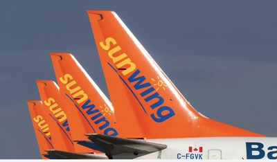 Sunwing jets are parked on tarmac as pilots remain off the job due to travel restrictions (CNW Group/Unifor)