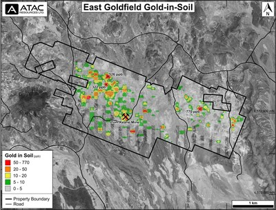 East Goldfield Gold-in-Soil (CNW Group/ATAC Resources Ltd.)