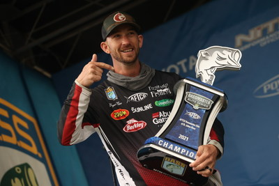 Bryan New, of Belmont, N.C., has won the 2021 AFTCO Bassmaster Elite at St. Johns River with a four-day total of 79 pounds, 7 ounces.