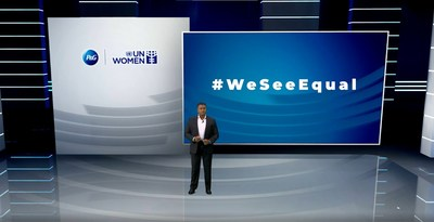 P&G President for Asia Pacific, Middle East and Africa, Magesvaran Suranjan speaking at the third annual #WeSeeEqual summit