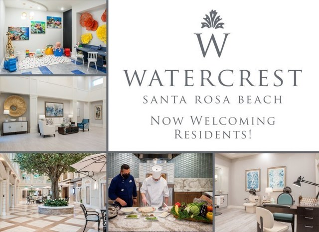 Watercrest Santa Rosa Beach Assisted Living and Memory Care is now open and welcoming residents to assisted living.
