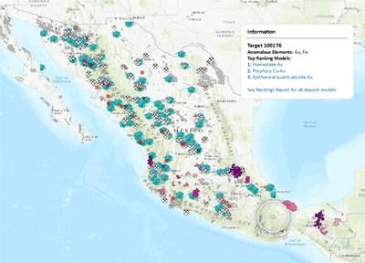 Imagen del análisis predictivo en el nuevo Mapa objetivo de México.