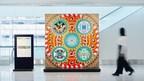 """Obras de arte mediático inspiradas en los """"patrones"""" de las artesanías regionales de Kyushu exhibidas en el aeropuerto de Fukuoka desde el 10 de febrero"""