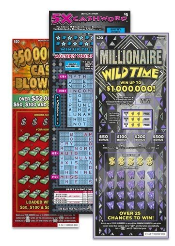 Michigan Lottery's $50,000,000 Cash Blowout, 5X Cashword, and Millionaire Wild Time games (CNW Group/Pollard Banknote Limited)