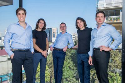 A equipe fundadora de VALOREO (da esquerda para a direita): Miguel Oehling, Martin Florea, Alexander Grüll, Stefan Florea e Cedrik Hoffmann (PRNewsfoto/VALOREO)