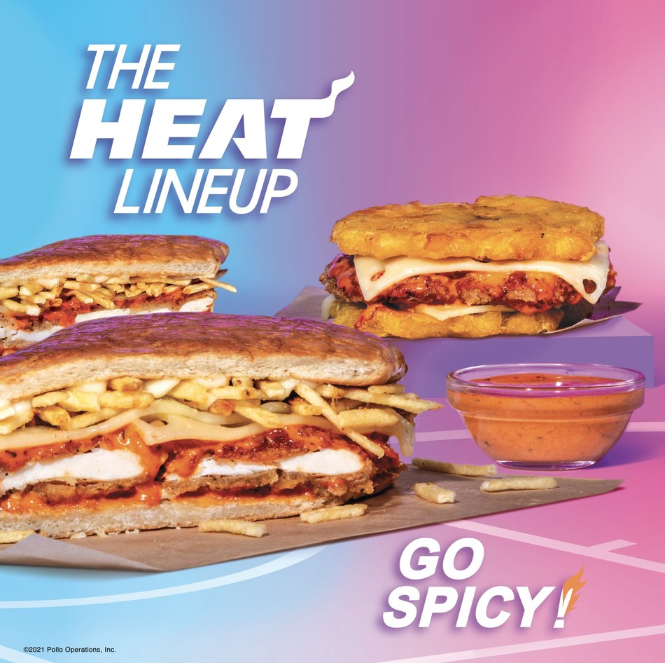 """Fans of Pollo Tropical and the Miami HEAT are sure to be fired up over the spicy new """"HEAT Lineup at Pollo Tropical"""" launching in restaurants across Florida. As part of this first-ever menu collaboration between the two Miami brands, the offering will feature a Spicy Crispy Chicken Sandwich, a Spicy Tostón Sandwich and a Spicy HEAT Sauce"""
