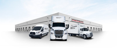 Three ASL trucks in front of Fastfrate facility (CNW Group/Fastfrate Group)