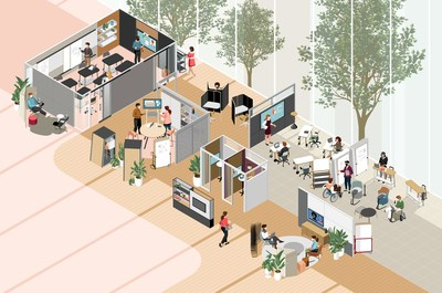 Workplace designers need to balance the needs of teams and individuals by creating neighborhoods where both collaboration and focused work can ebb and flow.