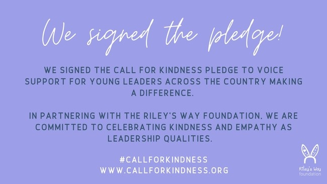 Are you a teen who wants to make a difference in the world? Riley's Way is here to help you bring your idea to life. Apply for the Call for Kindness (callforkindness.org). Deadline April 7, 2021.