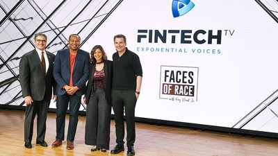 Faces of Race with Roy Wood Jr. - FINTECH.TV Team: Vince Molinari (Founder & CEO), Roy Wood Jr. (Activist, Comedian, Host), Kavita Gupta (Co-founder & CSO), and Troy McGuire (Co-founder & CCO) Photo credit: FINTECH.TV