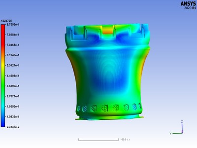 Ansys Additive accurately predicts transition print distortion validated post-print.
