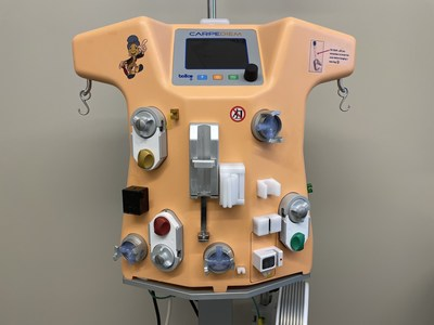 The Cardio-Renal Pediatric Dialysis Emergency Machine (CARPEDIEM) is a new system for patients with acute kidney injury or kidney failure requiring dialysis. This ground-breaking technology is intended to provide continuous renal replacement therapy (CRRT) to patients weighing between 5 and 20 pounds.