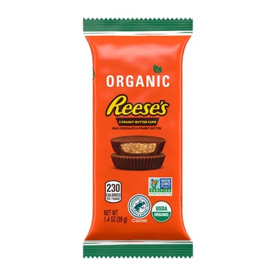 Organic Reese's Peanut Butter Cup in milk chocolate