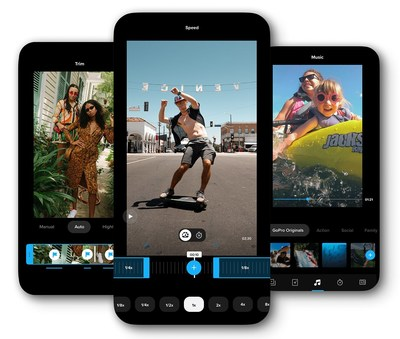 GoPro launched a total refresh of its mobile app and gave it a new name to reflect its purpose. Aptly named Quik, the app makes it quick and easy to get the most out of your favorite photos and videos no matter what camera or phone you're using. (PRNewsfoto/GoPro, Inc.)
