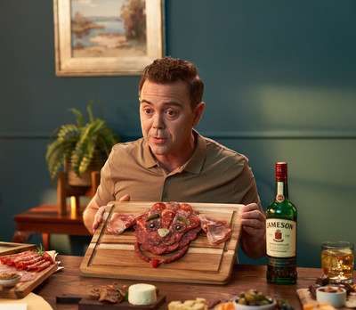 """Brooklyn Nine-Nine's"" Joe Lo Truglio knows what he'll be doing on his Jameson SPTO (St. Patrick's Day Time Off): pairing a charcuterie board in the shape of a puppy with a smooth glass of Jameson Irish Whiskey."