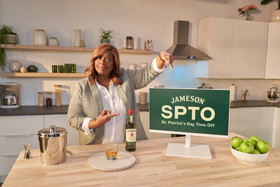 "Jameson Irish Whiskey and ""Good Girls"" actress Retta persuade fans to take a #JamesonSPTO, aka St. Patrick's Day Time Off, to take more time safely celebrating and connecting with friends on March 17th."