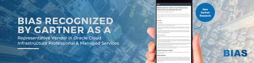 BIAS listed as a Representative Vendor in the 2021 Gartner Market Guide for Oracle Cloud Infrastructure Professional and Managed Services