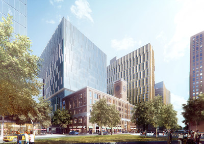 LabCentral 238 co-working laboratory focused on bio-manufacturing (rendering by Encore and Perkins+Will)