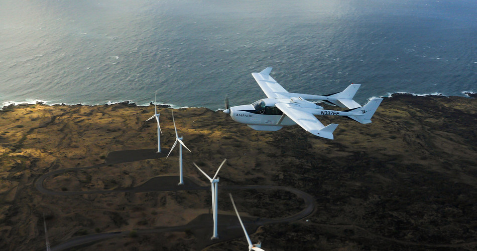 Surf Air Aerial Over Windmill