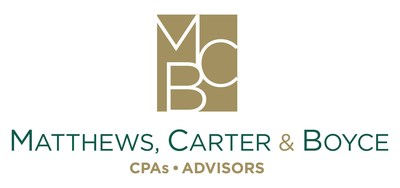 Matthews, Carter & Boyce, a leading accounting firm in the Washington, DC metro area, announces a new partnership with Sage Intacct, the customer satisfaction leader in cloud ERP software. (PRNewsfoto/Matthews, Carter & Boyce)