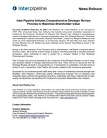 Inter Pipeline Initiates Comprehensive Strategic Review Process to Maximize Shareholder Value (CNW Group/Inter Pipeline Ltd.)