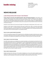 Lundin Mining Confirms 50% Increase in Cash Dividend (CNW Group/Lundin Mining Corporation)