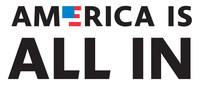 America Is All In logo