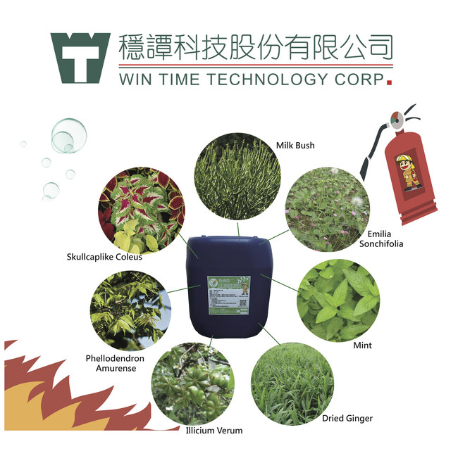 Revolutionary eco-friendly, plant-based fire-extinguishing agent introduced by Win Time Technology