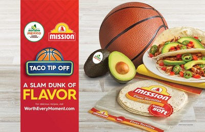 """Avocados From Mexico (AFM) teams up with Mission® Foods for the return of """"Taco Tip Off,"""" a retail program centered around tacos, burritos, quesadillas and more"""
