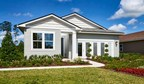 The ranch-style Larimar model home at Tributary in Yulee, Florida, offers abundant curb appeal.