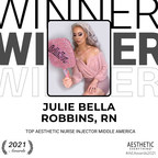 "Julie Bella Robbins, RN Receives ""Top Nurse Injector Middle America"" in the Aesthetic Everything® Aesthetic and Cosmetic Medicine Awards 2021"