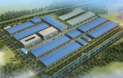 Maquette de la nouvelle usine de production de Pylontech