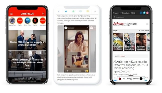 StoriYa allows publishers a choice of placement types including the classic circles carousel familiar on Instagram, and a squares carousel in the style used on Facebook, ideal for placement within articles.