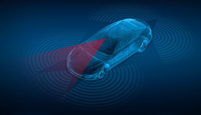 """ZF's cost-effective driver assistance system """"coASSIST"""" uses a front camera, front radar, four corner radars, and a Safety Domain ECU (Electronic Control Unit) to enable Level 2+ assisted driving – contributing to more comfort and enhanced safety."""