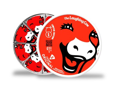 The Laughing Cow original cheese will be available in new, limited-edition packaging that commemorates the milestone at select retailers nationally starting this month. Each all-red package contains specially branded wedges with The Laughing Cow logo and a scannable QR code directing to the free 100ytlc.com web experience.