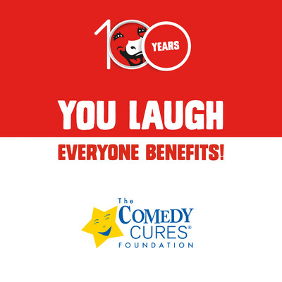 Inspiring people to laugh has been a part of The Laughing Cow's brand DNA since its founding 100 years ago, so in the U.S., The Laughing Cow has committed $75,000 to support the joy-filled non-profit programs of The ComedyCures Foundation, helping to provide therapeutic entertainment and laughter to kids and grown-ups living with illness, depression, trauma, and disabilities. Visit: 100ytlc.com