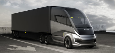 The Nikola Two FCEV Sleeper is a long-haul freight solution with hydrogen capacity allowing a non-stop range of up to 900 miles. The Two FCEV leverages the weight advantage of hydrogen in long-range, long-haul zero-emission commercial transportation. The Two FCEV will be based on a new chassis custom designed for North American long-haul routes and is anticipated to launch in late 2024.