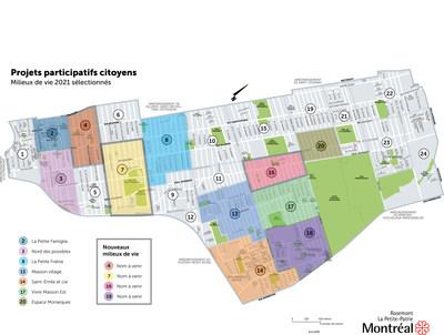 Troisième édition des Projets participatifs citoyens :  4 nouveaux milieux de vie grâce à la mobilisation des citoyens  de Rosemont-La Petite-Patrie (Groupe CNW/Ville de Montréal - Arrondissement de Rosemont - La Petite-Patrie)