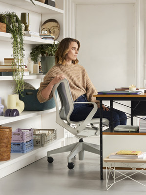 Office workers who are now working from home believe having a better home office setup would help them to be more productive. (PRNewsfoto/Herman Miller Limited)
